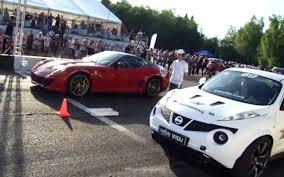 bugatti vs nissan juke vs bugatti veyron vs lamborghini ugr vs 599