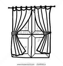 Iron Curtain Political Cartoon Drawn Curtain Black Pencil And In Color Drawn Curtain Black