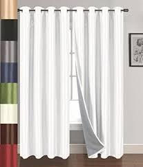White Linen Blackout Curtains Stylish Ruffle Blackout Curtains And Evelyn Linen Blend Ruffle