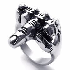 cool mens rings 2017 hot cool unique jewelry men s biker middle finger up