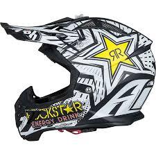 ufo motocross helmet airoh new mx 2017 aviator 2 2 rockstar matte black white motocross