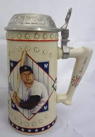 awesome mickey mantle collection stein 2 plates ornament post