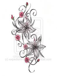 tattoo my photo up to down tiger lilly s are beautiful i want them up in down my side from my