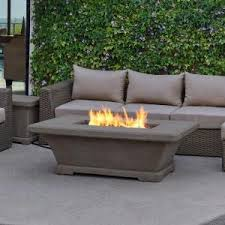 Lp Gas Firepit Real Antique 37 In Square Propane Gas Table In