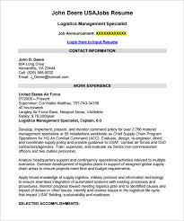 Sample Resume Design by Federal Resume Template U2013 10 Free Samples Examples Format