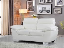 lolet canapé canape cuir reconstitue pvc dallas 2 places bl 84907 84910