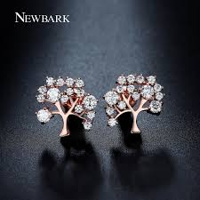 diamond stud sizes newbark flurishing tree design stud earrings different sizes