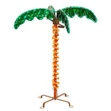 30 tropical lighted holographic rope light outdoor palm tree yard