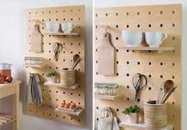 pegboard kitchen ideas 9 ideas for using pegboard and dowels to create open shelves
