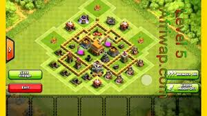 coc village layout level 5 best clash of clans town hall defense strategy level2 3 4 5 gaming