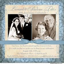 60th anniversary invitations 60th anniversary invitation fashioned photo 60