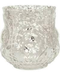 Large Candle Vase Mercury Glass Votive U0026 Tea Light Candle Holders Luna Bazaar