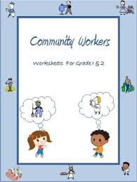 community workers helpers worksheets for grade 1 u0026 2 by