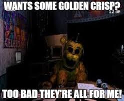 Meme Freddy - fnaf meme 3 golden freddy by utopia45 on deviantart