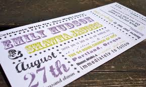 concert ticket wedding invites home design