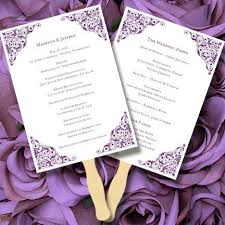 wedding program fan template printable wedding program fan template editable