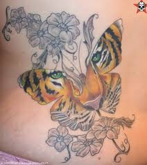 lilies and tiger tatoos tiger designs