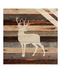 wooden pallet deer silhouette wall hanging by rusticrestyle wall