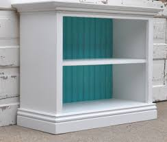 Distressed White Bookcase by To Bookend The Fireplace Bookshelf In White And Teal Teal