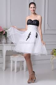 wedding dress for less black and white strapless party dress backless beaded