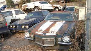 rare muscle cars abandoned in japan american muscle car junkyard split bumper z28