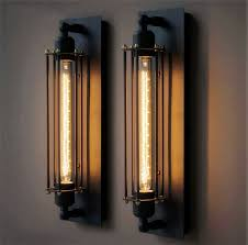 rustic wall sconce lighting best promotion e27 t300 vintage industrial black wall plate retro