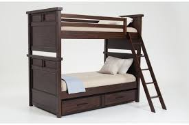 hudson youth twin bunk bed with trundle bob u0027s discount furniture