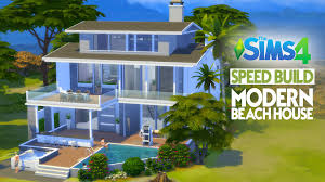 the sims 4 speed build modern beach house youtube