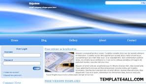 html corporate company bleu web template
