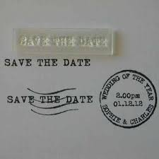 Save The Date Stamp Save The Date Little Stamp Old Typewriter Font