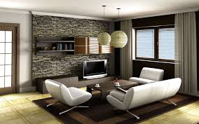 contemporary family room design beige curtain cool blue color