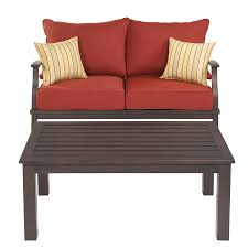 Allen And Roth Outdoor Furniture by 568 Shop Allen Roth 2 Piece Gatewood Brown Aluminum Patio
