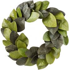 magnolia leaf wreath 22 magnolia leaves wreath isb69600 craftoutlet