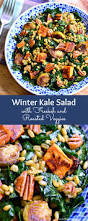 Roasted Vegetable Recipes by Winter Kale Salad With Freekeh And Roasted Veggies