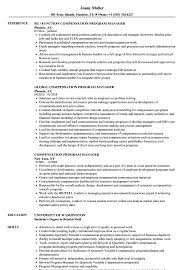 program manager resume compensation manager resume soaringeaglecasino us