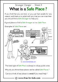 Worksheets For Kindergarten Printable Stranger Danger Worksheets And Colouring Pages
