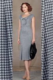 houndstooth dress 40s black white houndstooth wiggle dress wiggle dress