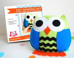 owl pillow sewing kit felt crafts felt sewing kit