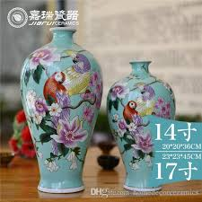 Classic Vases Gorgeous Mermaid Pure Hand Painting Ceramic Table Vase Small Size