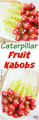 caterpillar fruit kabobs party food idea
