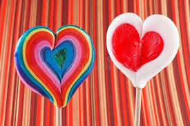 s day heart candy s day heart shaped lollipops stock photo image 83393677