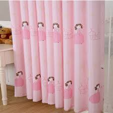 pink princess blackout curtains for children room baby living