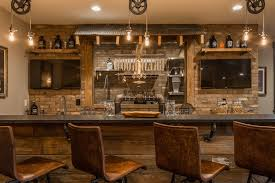 Basement Wet Bar by Indianapolis Basement Wet Bar Design Rustic With Home Metal