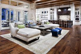 kitchen room hill country modern austin texas open plan living