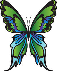 Blue And Green Butterfly - purple blue and green butterflies free clip clip library