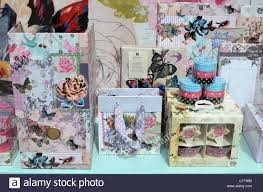 Flowers For Birds And Butterflies - gift items decorated with flowers birds and butterflies in a shop