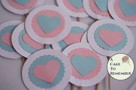 reveal baby shower gender reveal party cupcake toppers gender reveal baby shower