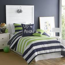 Blue Striped Comforter Set Bed Linen Awesome Boys Striped Bedding Striped Comforters For