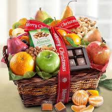 christmas fruit baskets merry christmas fruit basket of orchard delights