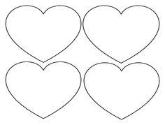 free printable large shapes printable heart shapes tiny small medium outlines outlines